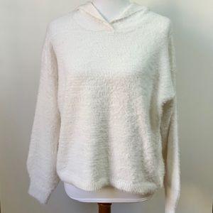 Lou & Grey Furry Sweater Hoodie Medium